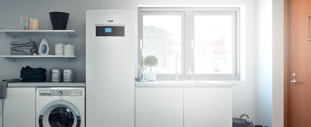modulo interno pompa di calore aria acqua IVT AirX airmodule installata in cucina
