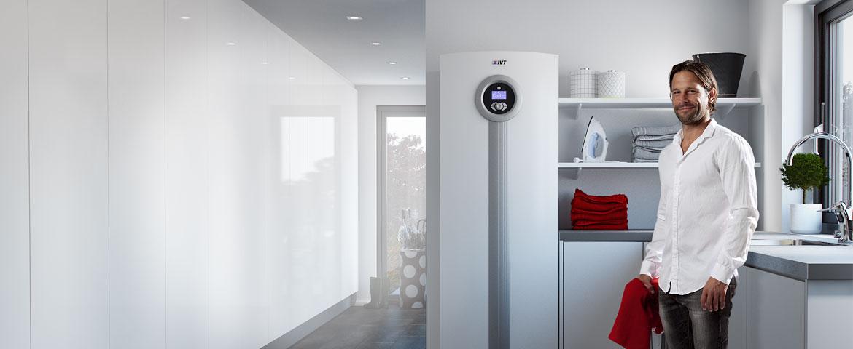 pompa di calore geotermica o modulo interno pompa di calore aria acqua installate in cucina